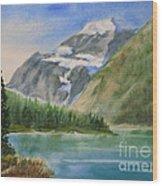 Mt. Edith Cavell W/c Wood Print