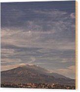 Mt. Etna Wood Print
