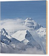 Mt Everest, From Mt Everest Base Camp Wood Print