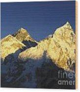 Mt Everest Wood Print