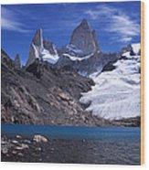 Mt Fitzroy And Laguna De Los Tres Wood Print