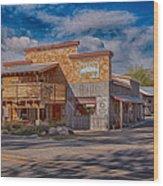 Mt Gardner Inn And Fly Shop Wood Print