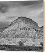 Mt. Garfield - Black And White Wood Print