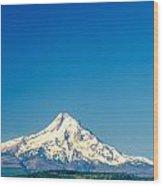 Mt. Hood And Blue Sky Wood Print