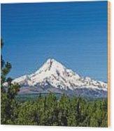 Mt. Hood And Pine Trees Wood Print
