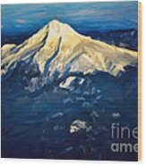 Mt. Hood From Above Wood Print