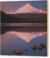 Mt Hood Reflection Wood Print