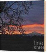 Mt Hood Sunrise Wood Print
