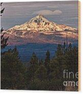 Mt. Jefferson At Dawn Wood Print
