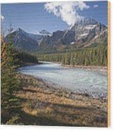 Mt Kerkeslin And Athabaska River Jasper Wood Print