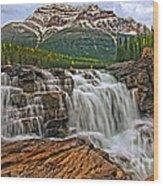 Mt. Kerkeslin  Athabasca Falls Wood Print