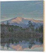 Mt Lafayette Reflections Wood Print