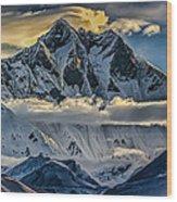 Mt Lhotse Wood Print