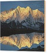 Mt Makalu And Mt Chomolonzo Wood Print