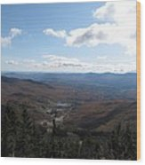 Mt Mansfield Looking East Wood Print