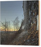 Mt Mckay Spring Waterfall Wood Print