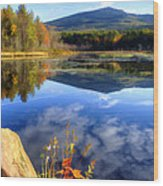 Mt. Monadnock Reflection Wood Print
