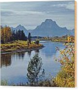 1m9208-mt. Moran And The Snake River, Wy Wood Print