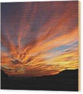 Mt Ord Sunset Arizona Wood Print
