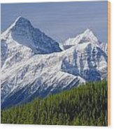 1m3627-mt. Outram And Mt. Forbes Wood Print