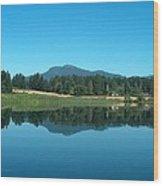 Mt Prevost Over Quamichan Lake Wood Print