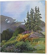 Mt. Rainier 2 Wood Print