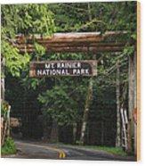 Mt Rainier Gateway Wood Print