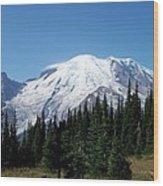 Mt. Rainier In August Wood Print