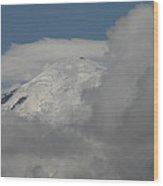 Mt. Rainier In The Clouds Wood Print