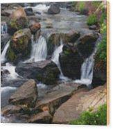 Mt Rainier Mountain Stream Wood Print