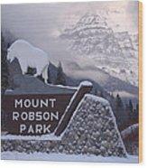 Mt Robson  Wood Print
