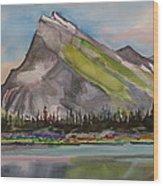 Mt. Rundle Wood Print