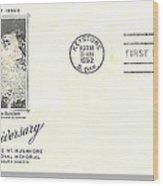 Mt Rushmore Twenty-fifth Anniversary Postcard Wood Print