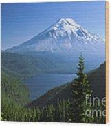 Mt. Saint Helens Wood Print