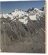 Mt Sefton Hooker Glacier And Mt Cook Wood Print