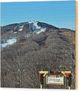 Mt Snow Vermont Wood Print