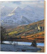 Mt Snowdon Snowdonia The Snowdon Horseshoe From Llynnau Mymbyr Wood Print