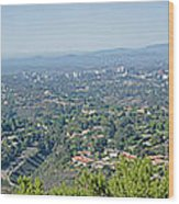 Mt. Soledad - View To The North Wood Print