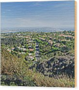 Mt. Soledad - View To The South Wood Print