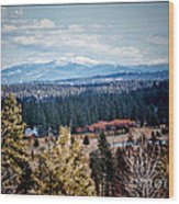 Mt. Spokane Wood Print