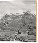 Mt St Helen's Wood Print