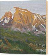 Mt. Tekarra Wood Print