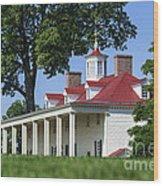 Mt Vernon Mansion Wood Print
