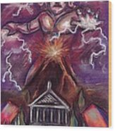 Mt. Vesuvius - Jupiter's Fury Wood Print