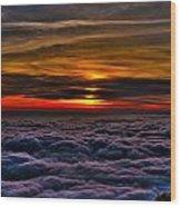 Mt Wilson Sunset 2 Wood Print