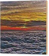 Mt Wilson Sunset Wood Print
