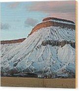 Mt.garfield Winter Wood Print