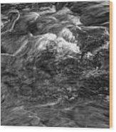 Mtn Stream Bw3 Wood Print