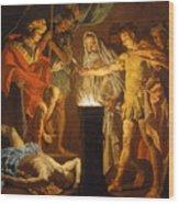 Mucius Scaevola In The Presence Of Lars Porsenna Wood Print