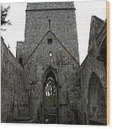 Muckross Abbey Steeple Wood Print